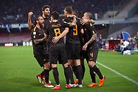Esultanza Gol Edin Dzeko Roma 1-2 goal celebration <br /> Napoli 03-03-2018  Stadio San Paolo <br /> Football Campionato Serie A 2017/2018 <br /> Napoli - AS Roma<br /> Foto Gino Mancini / Insidefoto