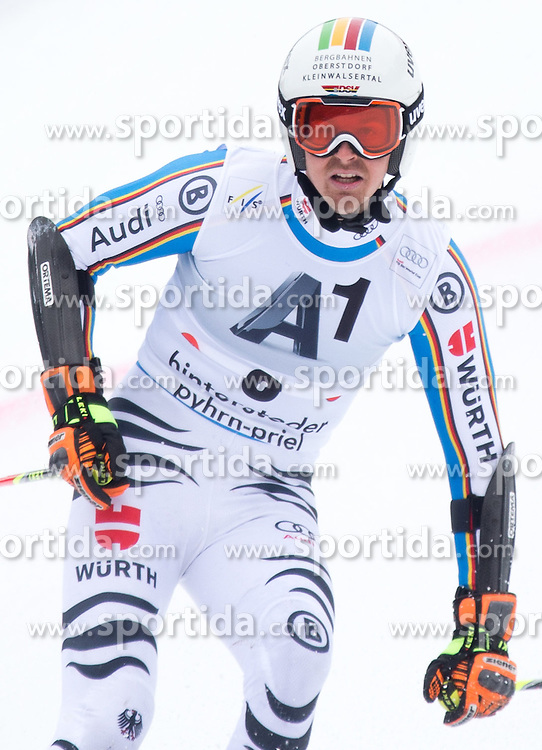 28.02.2016, Hannes Trinkl Rennstrecke, Hinterstoder, AUT, FIS Weltcup Ski Alpin, Hinterstoder, Riesenslalom, Herren, 2. Lauf, im Bild Stefan Luitz (GER) // Stefan Luitz of Germany reacts after his 2nd run of men's Giant Slalom of Hinterstoder FIS Ski Alpine World Cup at the Hannes Trinkl Rennstrecke in Hinterstoder, Austria on 2016/02/28. EXPA Pictures © 2016, PhotoCredit: EXPA/ Johann Groder