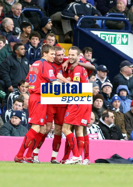 Photo: Mark Stephenson/Richard Lane Photography. <br /> West Bromwich Albion v Colchester United. Coca-Cola Championship. 29/03/2008. <br /> Colcherter players celebrate Medy Elito's goal