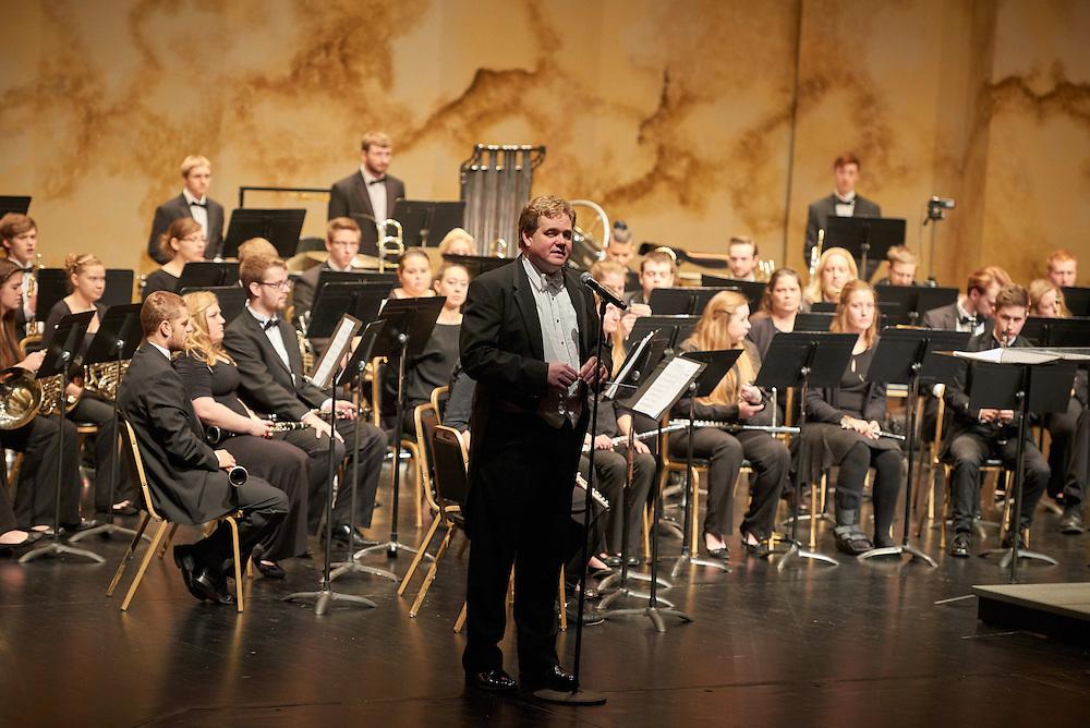 -UWL UW-L UW-La Crosse University of Wisconsin-La Crosse; Band; Candid; Group; Inside; Man men; November; Professor; Student students; Tom Seddon; Viterbo Fine Arts; Woman women