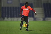 Brighton & Hove Albion centre forward Elvis Manu (19) during the EFL Trophy match between AFC Wimbledon and U23 Brighton and Hove Albion at the Cherry Red Records Stadium, Kingston, England on 6 December 2016.