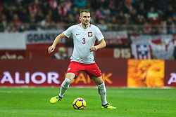 November 10, 2017 - Warsaw, Poland - Artur Jedrzejczyk (POL) in action during the international friendly match between Poland and Uruguay at National Stadium on November 10, 2017 in Warsaw, Poland. (Credit Image: © Foto Olimpik/NurPhoto via ZUMA Press)