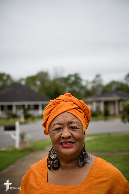 Leevones Fisher of the Bay Area Women Coalition, Inc., has been instrumental with Trinity Lutheran Church in revitalizing the surrounding neighborhoods. She is pictured in a portrait in the revitalized neighborhood of Richardson Heights on Sunday, April 6, 2014, in Mobile, Ala. LCMS Communications/Erik M. Lunsford