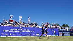 LIVERPOOL, ENGLAND - Friday, June 21, 2019: Kaia Kanepi (EST) during Day Two of the Liverpool International Tennis Tournament 2019 at the Liverpool Cricket Club. (Pic by David Rawcliffe/Propaganda)