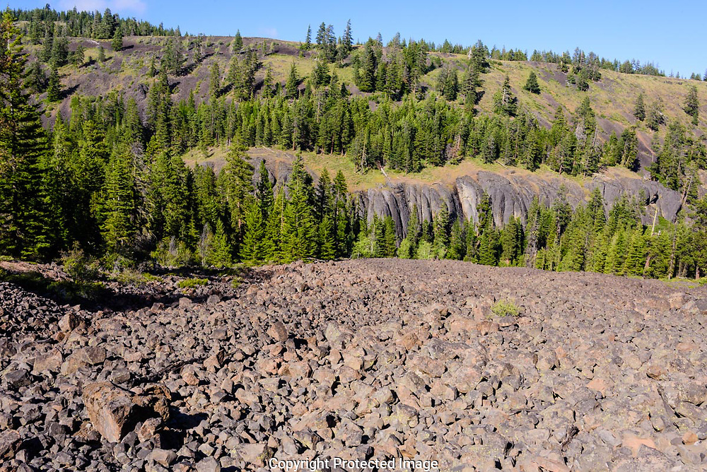 The Miocene Lava Flows have been folded and twisted in the Manastash Ridge.
