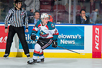 KELOWNA, CANADA - JANUARY 25:  Liam Kindree #26 of the Kelowna Rockets skates against the Victoria Royals on January 25, 2019 at Prospera Place in Kelowna, British Columbia, Canada.  (Photo by Marissa Baecker/Shoot the Breeze)