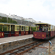 UK weather: Train tour to Brighton Marina, Brighton, UK on July 27 2018.