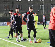 Dundee&rsquo;s Craig Wightona and Cammy Kerr - Dundee FC training ahead of the visit to Motherwell at GA Arena, Dundee.Photo: David Young<br /> <br />  - &copy; David Young - www.davidyoungphoto.co.uk - email: davidyoungphoto@gmail.com