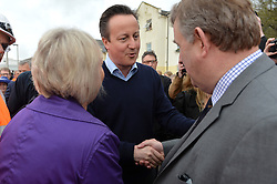 David Cameron visits Dawlish Train Station via railway after the coast town was badly affected by storms earlier this year.<br /> Day 3 of Prime Minister David Cameron's regional tour. <br /> Friday 4th of April 2014. Picture by Ben Stevens / i-Images