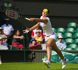 LONDON, ENGLAND - Monday, June 21, 2010: Laura Robson (GBR) during the Ladies' Singles 1st Round match on day one of the Wimbledon Lawn Tennis Championships at the All England Lawn Tennis and Croquet Club. (Pic by David Rawcliffe/Propaganda)