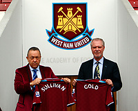 Fotball<br /> England<br /> Foto: Colorsport/Digitalsport<br /> NORWAY ONLY<br /> <br /> David Sullivan and David Gold  Joint Co Chairman of West Ham United  at Boleyn Ground Upton Park<br /> 19/01/2010.
