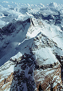 Summit Chomolungma, Mt Everest & upper North Face / North Ridge, with Lhotse behind,  Tibet & Nepal, Himalaya. Photo; Dick & Pip Smith