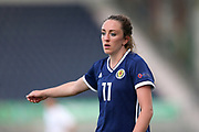 Lisa Evans (#11) of Scotland during the FIFA Women's World Cup UEFA Qualifier match between Scotland Women and Belarus Women at Falkirk Stadium, Falkirk, Scotland on 7 June 2018. Picture by Craig Doyle.