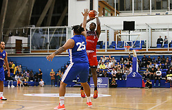 Fred Thomas of Bristol Flyers attempts a 3 point shot  - Photo mandatory by-line: Arron Gent/JMP - 28/09/2019 - BASKETBALL - Crystal Palace National Sports Centre - London, England - London City Royals v Bristol Flyers - British Basketball League Cup