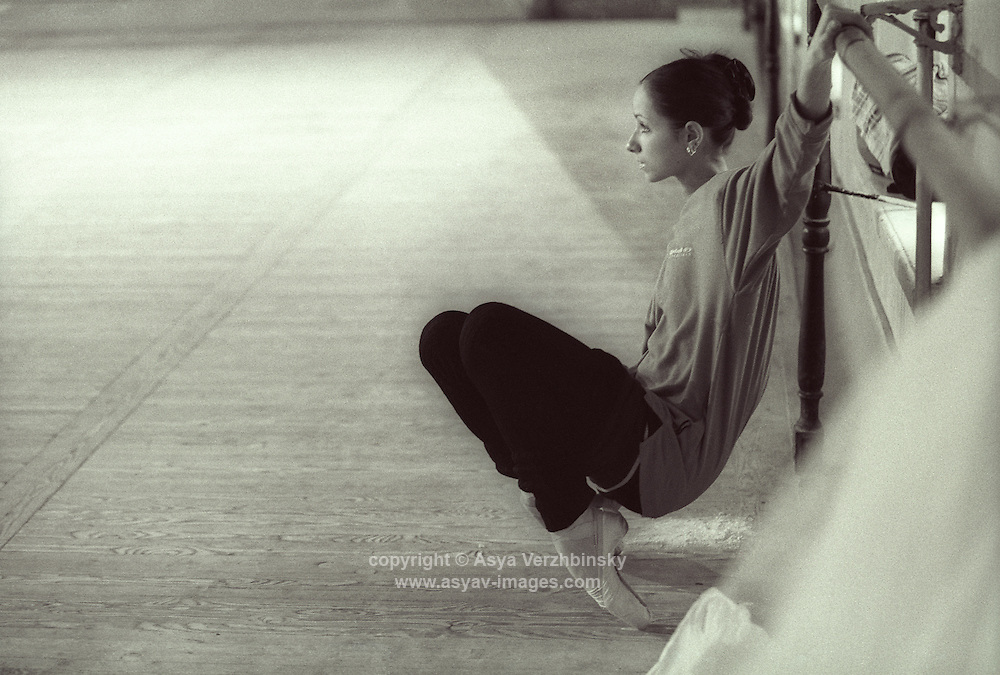 Vaganova School Student watching a rehearsal at the School