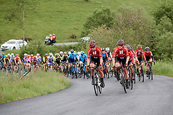 Susanne Andersen (NOR) and Julia Soek (NED) lead the bunch on Stage 5 of 2019 OVO Women's Tour, a 140 km road race from Llandrindod Wells to Builth Wells, United Kingdom on June 14, 2019. Photo by Sean Robinson/velofocus.com