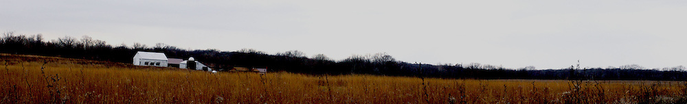 November 2008:  Panoramic of Sugar Grove Nature Center and area at Funks Grove, Illinois near the Mother Road, U.S. Route 66.  This image was created from several individual images and is considered a Photo Illustration.