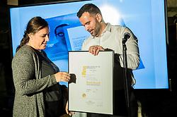 Tanja Kajtna at Official retirement of World records holder swimmer Peter Mankoc, on November 25, 2016 in Ljubljanski grad, Ljubljana, Slovenia. Photo by Vid Ponikvar / Sportida