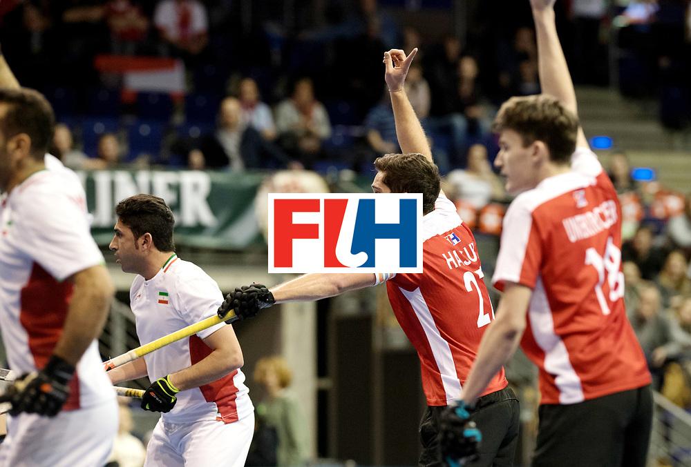 BERLIN - Indoor Hockey World Cup<br /> Men: Iran - Austria<br /> foto: Xaver Hasun.<br /> WORLDSPORTPICS COPYRIGHT FRANK UIJLENBROEK