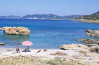 Italie, Sardaigne, Costa del Sud, Plage de Chia. //  Italy, Sardinia, Chia Beach, South cost.