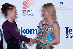 Sonja Roman and Brigita Langerholc at Best Slovenian athlete of the year ceremony, on November 15, 2008 in Hotel Lev, Ljubljana, Slovenia. (Photo by Vid Ponikvar / Sportida)