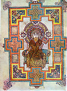 Portrait of Saint John. 'Book of Kells', 6th century manuscript of the Four Gospels
