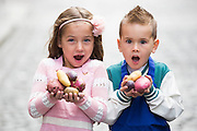 Repro Free: <br /> Malena Behan (age 6) from Palmerstown and Jayden Whelan (age 6) from Swords are pictured as Bord Bia, in conjunction with the Irish Potato Federation and the Irish Farmer&rsquo;s Association, welcome the return of National Potato Day this Friday, 3rd October. Much-loved by Irish families for generations, National Potato Day celebrates a reliable favourite that not only tastes delicious and is incredibly versatile, but also provides a naturally healthy option for meal times.<br /> For exciting and inspiring potato recipes, a chance to enter some great competitions and a list of National Potato Day events visit www.potato.ie. Picture Andres Poveda<br />  <br /> -Ends-<br />  <br /> For more information, please contact:<br /> Mark Kilbride (086 3966338) or Clodagh Hogan (087 7746128)