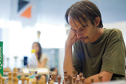 Marjan Crepan in action during the Slovenian National Chess Championships in Ljubljana on August 9, 2010.  (Photo by Vid Ponikvar / Sportida)