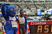 Dina Asher-Smith during the Sainsbury's Anniversary Games at the Queen Elizabeth II Olympic Park, London, United Kingdom on 25 July 2015. Photo by Mark Davies.