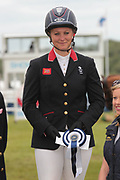 Second-placed Equitrek CCI*** event Gemma Tattersall after the final show jumping round on day four of the Bramham International Horse Trials 2017 at  at Bramham Park, Bramham, United Kingdom on 11 June 2017. Photo by Mark P Doherty.