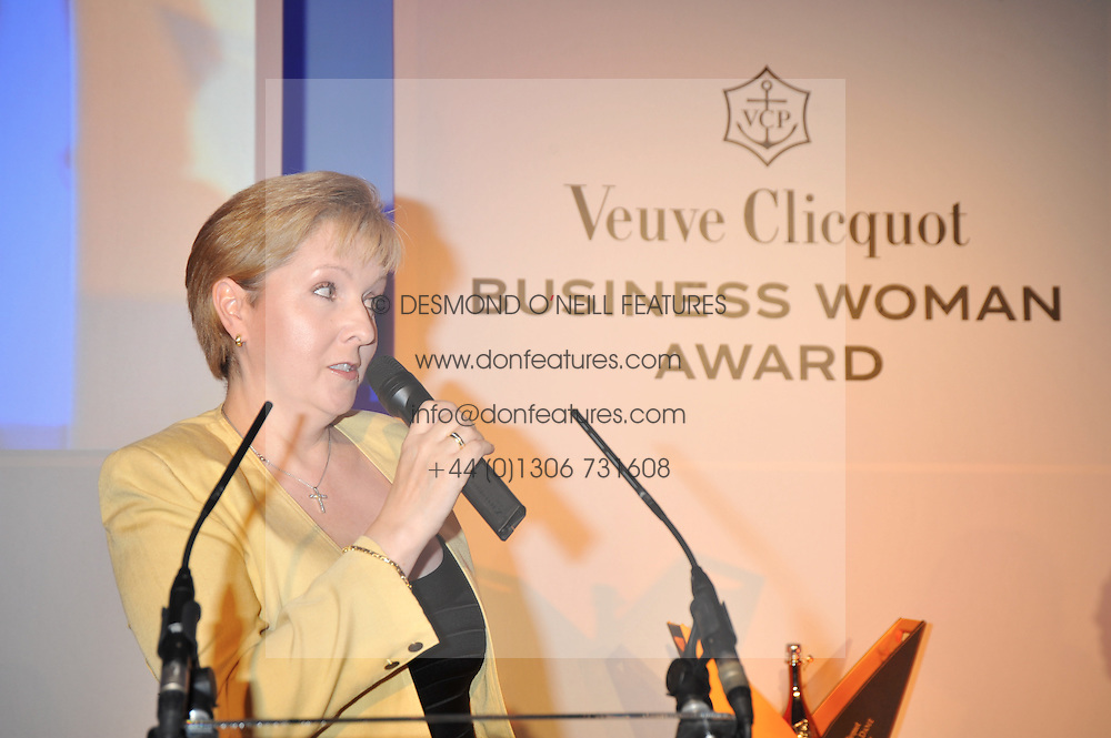 KATE BLEASDALE at the presentation of the Veuve Clicquot Business Woman Award 2009 hosted by Graham Boyes MD Moet Hennessy UK and presented by Sir Trevor Macdonald at The Saatchi Gallery, Duke of York's Square, Kings Road, London SW1 on 28th April 2009.