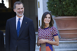 October 9, 2018 - Madrid, Madrid, Spain - King Felipe VI of Spain, Queen Letizia of Spain attended an official lunch at Palacio de la Zarzuela October 9, 2018 in Madrid, Spain (Credit Image: © Jack Abuin/ZUMA Wire)