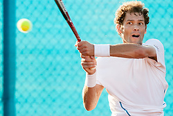 Josko Topic (CRO) during a tennis match against the Carlos Berlocq (ARG) in 1st round of singles at 24 ATP Vegeta Croatia Umag 2013, on July 23, 2013, in Umag, Croatia. (Photo by Urban Urbanc / Sportida)
