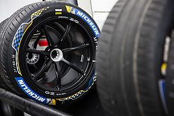 October 19, 2018 - Valencia, Spain - Michelin tyres  during the Formula E official pre-season test at Circuit Ricardo Tormo in Valencia on October 16, 17, 18 and 19, 2018. (Credit Image: © Xavier Bonilla/NurPhoto via ZUMA Press)