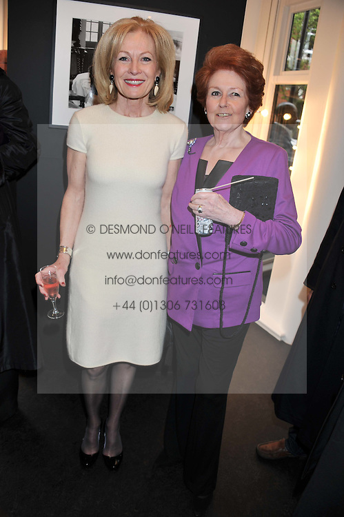 Left to right, LADY ANNUNCIATA ASQUITH and LADY ELIZABETH ANSON at a private view of the late Patrick Lichfield: Nudes at The Little Black gallery, 13A Park Walk, London SW10 on 26th April 2012.
