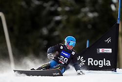 Stanislav Detkov (RUS) during Quarter-final Run of Man's Parallel Giant Slalom at FIS Snowboard World Cup Rogla 2016, on January 23, 2016 in Course Jasa, Rogla, Slovenia. Photo by Urban Urbanc / Sportida