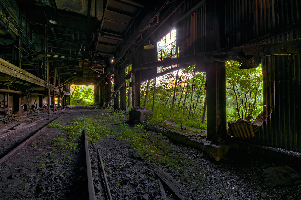 The Abandoned St. Nicholas Coal Breaker in Mahanoy PA.