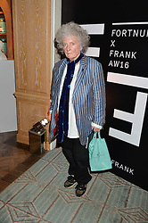 MAGGI HAMBLING at a the Fortnum's X Frank private view - an instore exhibition of over 60 works from Frank Cohen's collection at Fortnum & Mason, 181 Piccadilly, London on 12th September 2016.