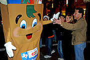 The H.E.B. Buddy greets revelers at the Grand Procession on New Year's Eve in Austin Texas as part of the First Night 2009 celebration, December 31, 2008. First Night is an annual celebration of the arts  held on New Year's Eve in Austin Texas.