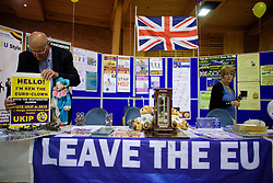 ©  London News Pictures. 17/09/2016. Bournemouth, UK. An expo stand at Day 2 of the 2016 UKIP Autumn Conference, held at the Bournemouth International Centre in Bournemouth, Dorset. On Friday, the party elected Diane James as their new leader, following Nigel Farage resignation after the UK voted to leave the EU in a referendum..  Photo credit: Ben Cawthra/LNP