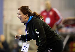 Marta Bon, head coach of Slovenia during handball match between Women National teams of Slovenia and Serbia in 2nd Round of Qualifications for 2014 EHF European Championship on October 27, 2013 in Hala Tivoli, Ljubljana, Slovenia. Slovenia defeated Serbia 31-26. (Photo by Vid Ponikvar / Sportida)