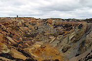 Great Opencast at Parys Mountain (Mynydd Trysglwyn) copper mine, Anglesey Wales. First mined in the  Bronze Age extraction was at its peak in the 18th & 19th centuries. ....