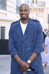 Serge Ibaka arriving at the Valentino show during the Paris Men's fashion Week Spring Summer 2018, in Paris, France on june 21, 2017. Photo by Aurore Marechal/ABACAPRESS.COM