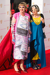 © Licensed to London News Pictures. 08/05/2016. London, UK. GRAYSON PERRY and wife PHILLIPA PERRY attend the BAFTA Television Awards 2016. Photo credit: Ray Tang/LNP