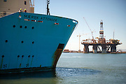 Maersk Attender coming into port in Cape Town