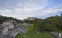 view of ek balam in the yucatan is a recently discovered Maya city lost in the jungle archaeological sites
