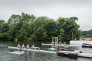 Henley-on-Thames. United Kingdom.  Heat of the Wyfold Challenge Cup, under way Auriol Kensington RC on the Bucks Station and UTS Haberfield RC, AUS. 2017 Henley Royal Regatta, Henley Reach, River Thames. <br /> <br /> 08:20:29  Wednesday  28/06/2017   <br /> <br /> [Mandatory Credit. Peter SPURRIER/Intersport Images.