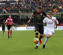 December 3, 2017 - Italy - Benevento, Italy. December 3, 2017: .The players gaetano letizia of Benevento and Borini Fabio of Milan contain the ball. The Benevento after 14 losses manages to equalize and make the first point in Serie A (Credit Image: © Zumapress via ZUMA Wire)