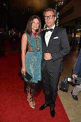 DAME NATALIE MASSENET and ERIC TORSTENSSON at the GQ Men of The Year Awards 2016 in association with Hugo Boss held at Tate Modern, London on 6th September 2016.