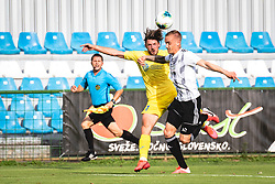 Matej Podlogar of Domzale and Marin Karamarko of NS Mura during football match between NŠ Mura and NK Domžale in 30th Round of Prva liga Telekom Slovenije 2019/20, on June 28, 2020 in Fazanerija, Murska Sobota, Slovenia. Photo by Blaž Weindorfer / Sportida